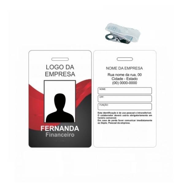 CRACHAS EM PVC - 4X1 FRENTE COLORIDO E VERSO COM DADOS EM PRETO